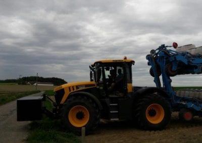 Traktor, Anbau, Donau Silphie Energiepflanze 2.0