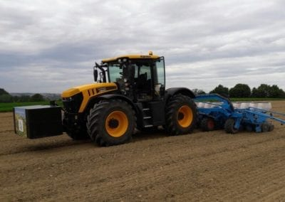 Traktor, Anbau Donau Silphie Energiepflanze 2.0, Feld