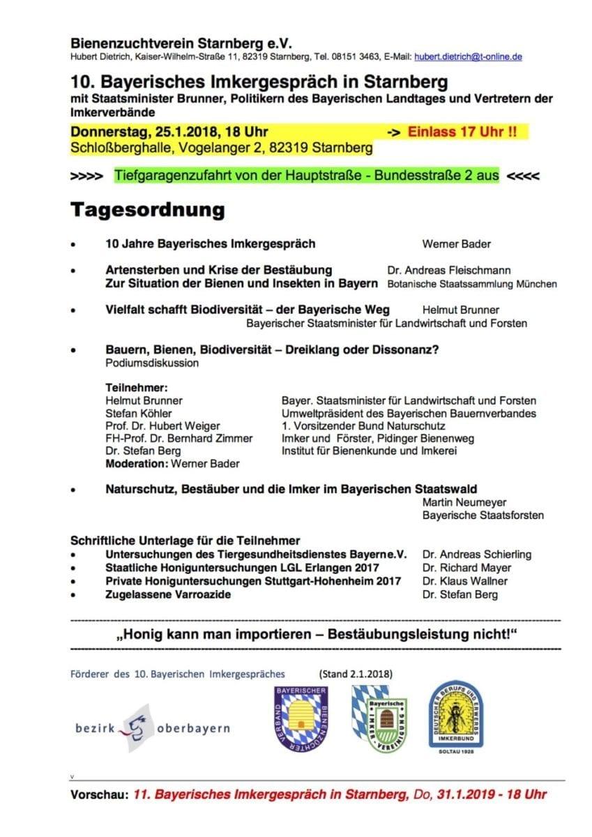 10. Bayerisches Imkergespräch in Starnberg - Imkerverein Stierberg