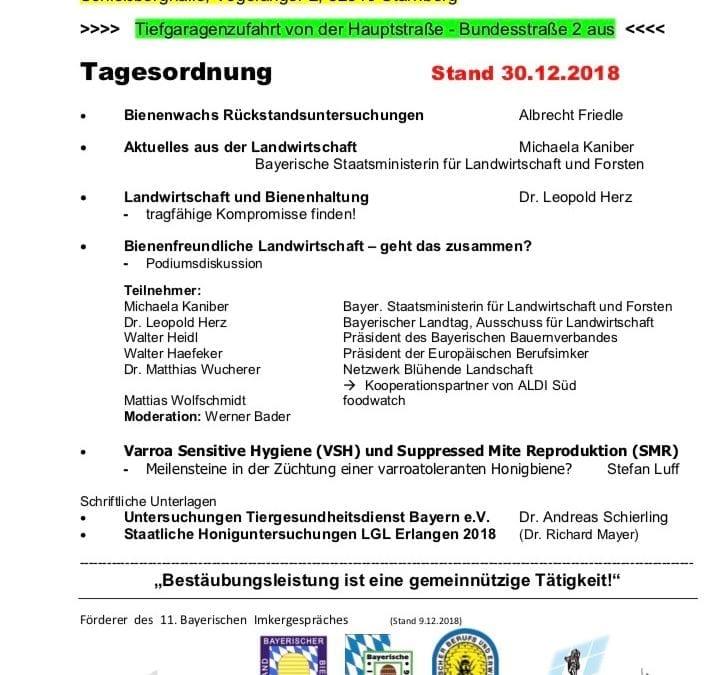 11. Bayerische Imkergespräch in Starnberg