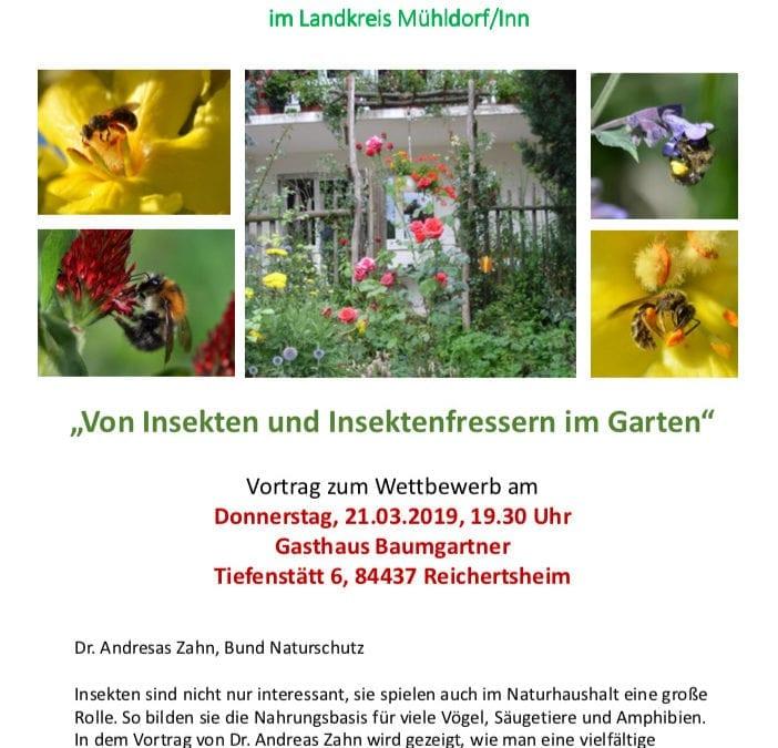Von Insekten und Insektenfressern im Garten